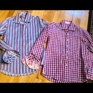Two Robert Graham size S button downs